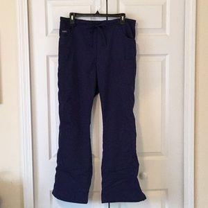 Navy Blue Sanibel Scrub Pants Elastic/Tie Waist